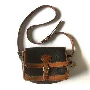 Vintage Black tan Dooney Bourke purse satchel